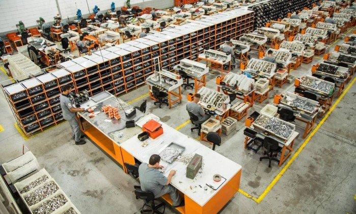 A fábrica da Stam (Foto: O Globo)