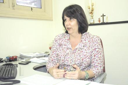 A nova secretária de Saúde, Tânia Trilha (Arquivo AVS)