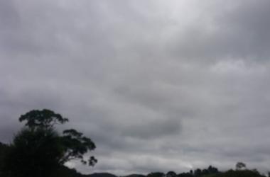 Dia cinzento em Nova Friburgo (Foto: Cruz Vermelha NF)