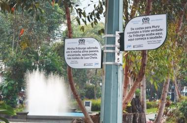 A Alameda dos Trovadores, na Praça Getúlio Vargas (Arquivo AVS)