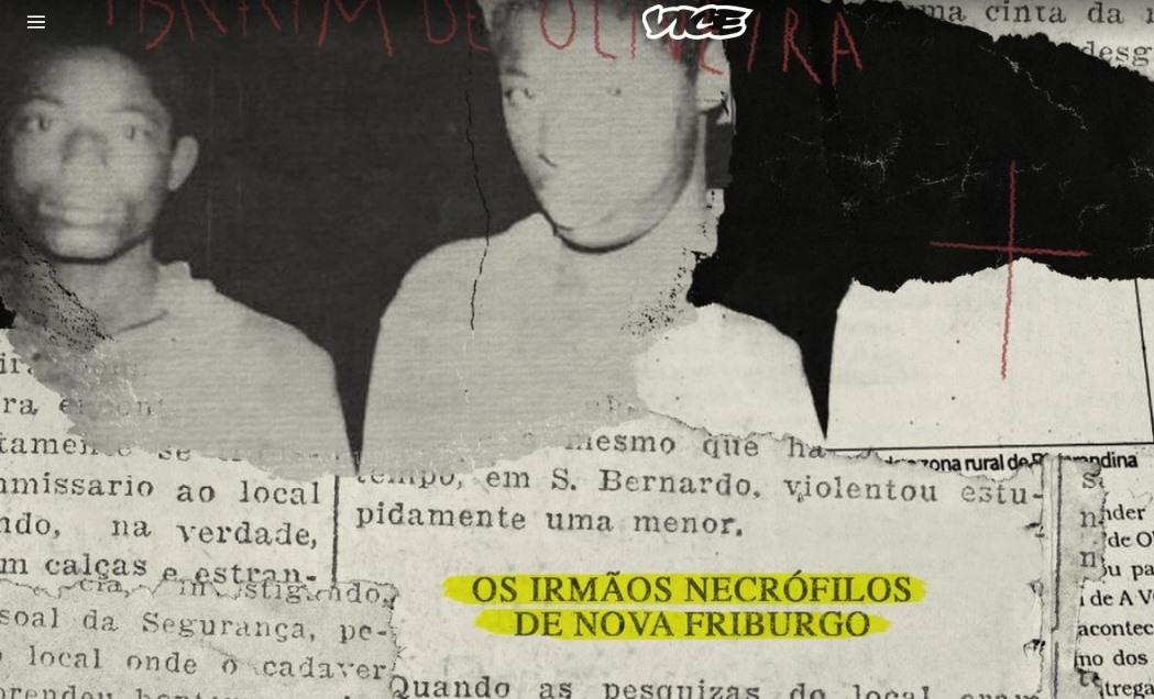 VICE relembra Irmãos Necrófilos com páginas de AVS