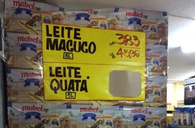 Leite chega a custar R$ 3,83 em mercados de Nova Friburgo (Fotos: Dayane Emrich)
