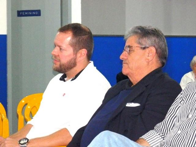O presidente eleito, João Schlupp e o vice, Tony Ventura