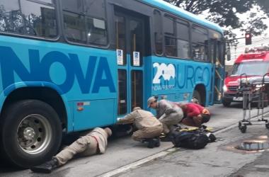 O resgate do ciclista acidentado (Fotos de leitores)